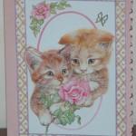 3D-kort med katter